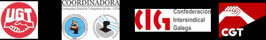 logos UGT CETM CIG CGT